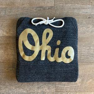 Men's/Unisex HOMAGE Gold 'Ohio' Script Hoodie [M]